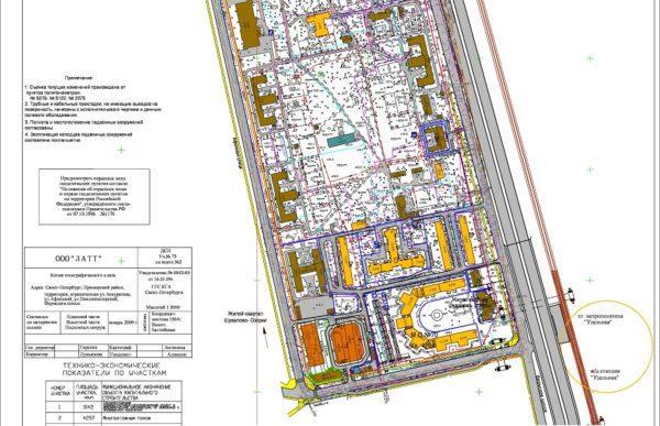 Проект планировки и проект межевания территории в Приморском районе Санкт-Петербурга.